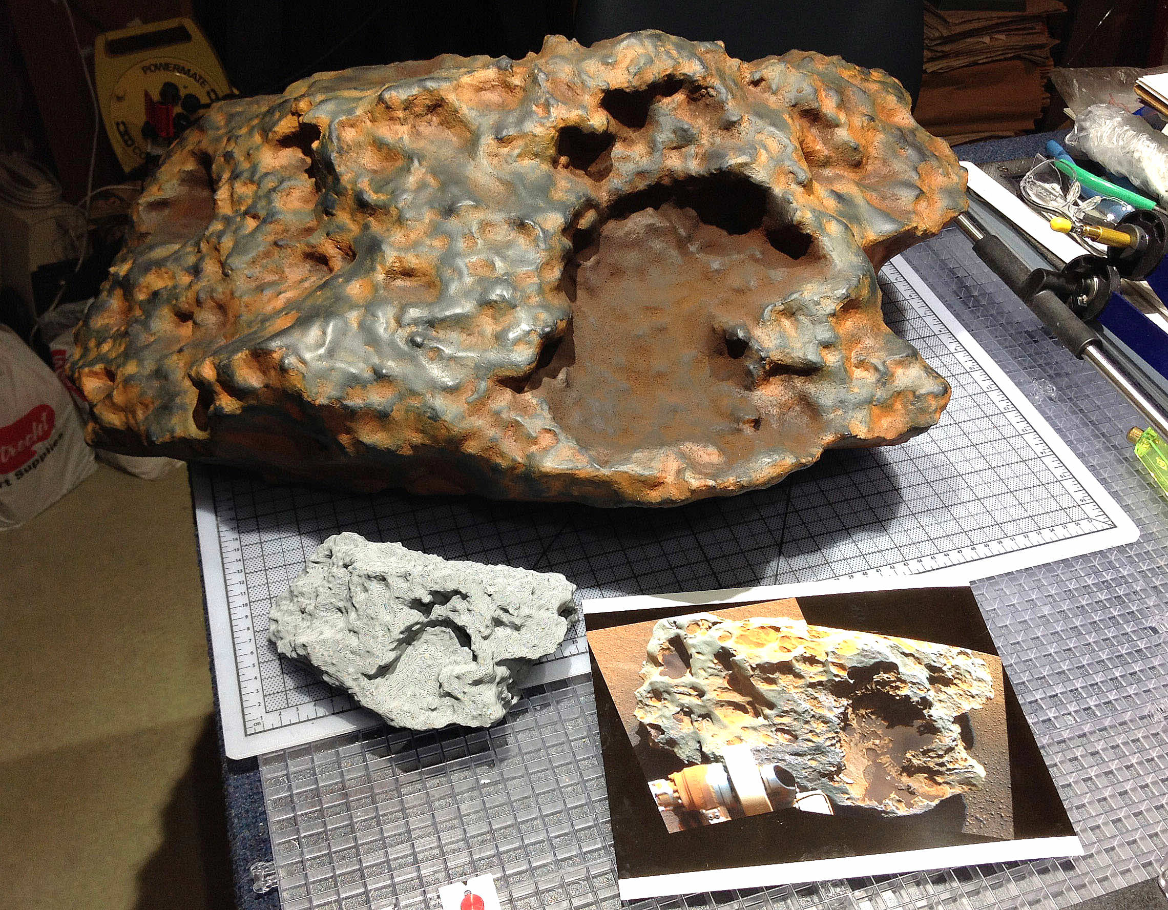 The 'Block Island' meteorite reproduced in plastic at NASA's Jet Propulsion Laboratory. Credit: NASA/JPL-Caltech