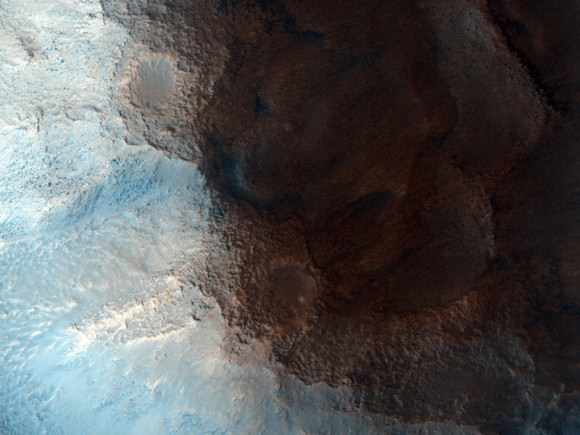 The 'face' on Mars, a popular landform in Cydonia Region on Mars. Credit: NASA/JPL/University of Arizona.