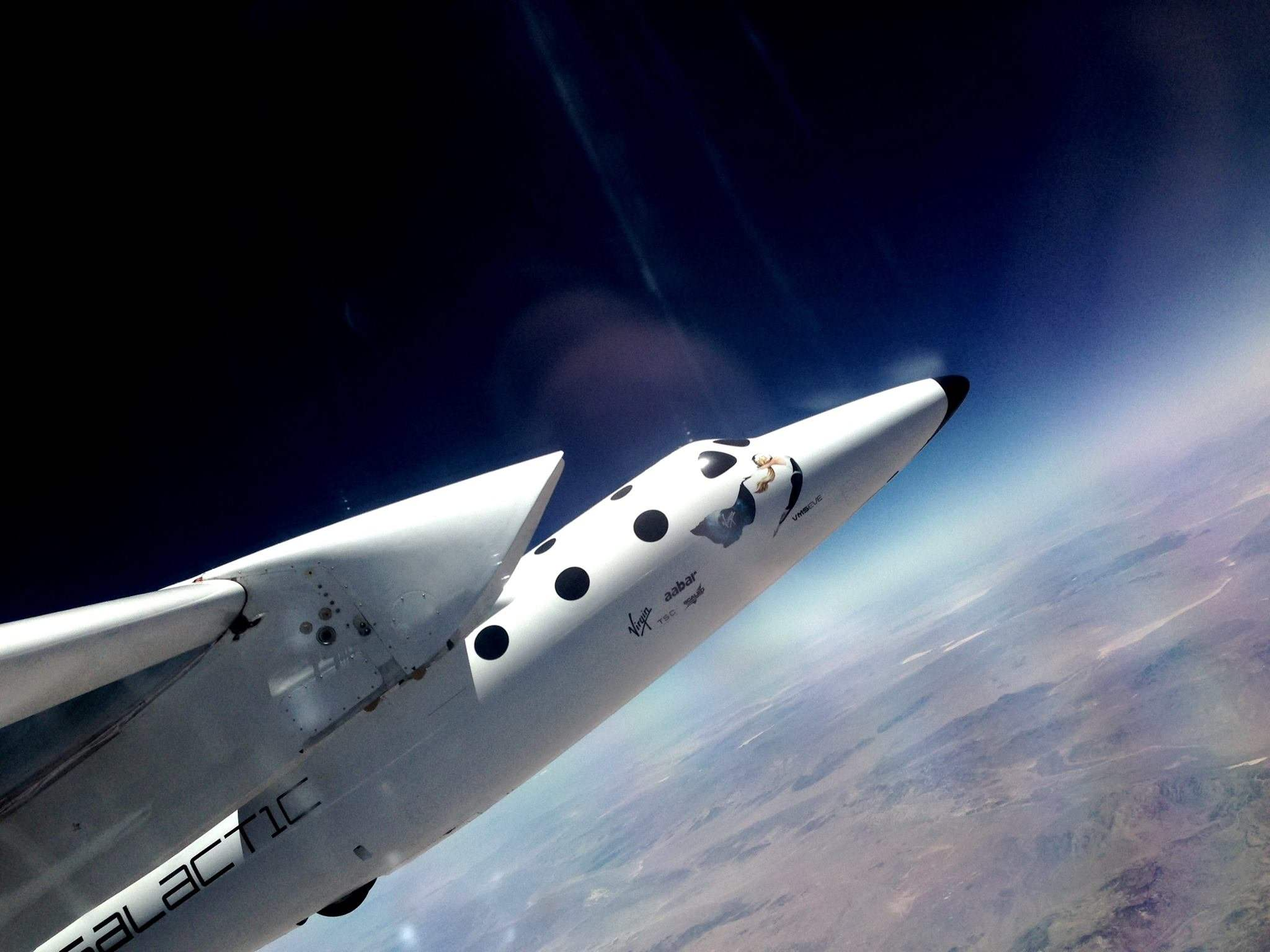 WhiteKnightTwo during a test flight in 2014, the 150th it has taken so far. Credit: Virgin Galactic