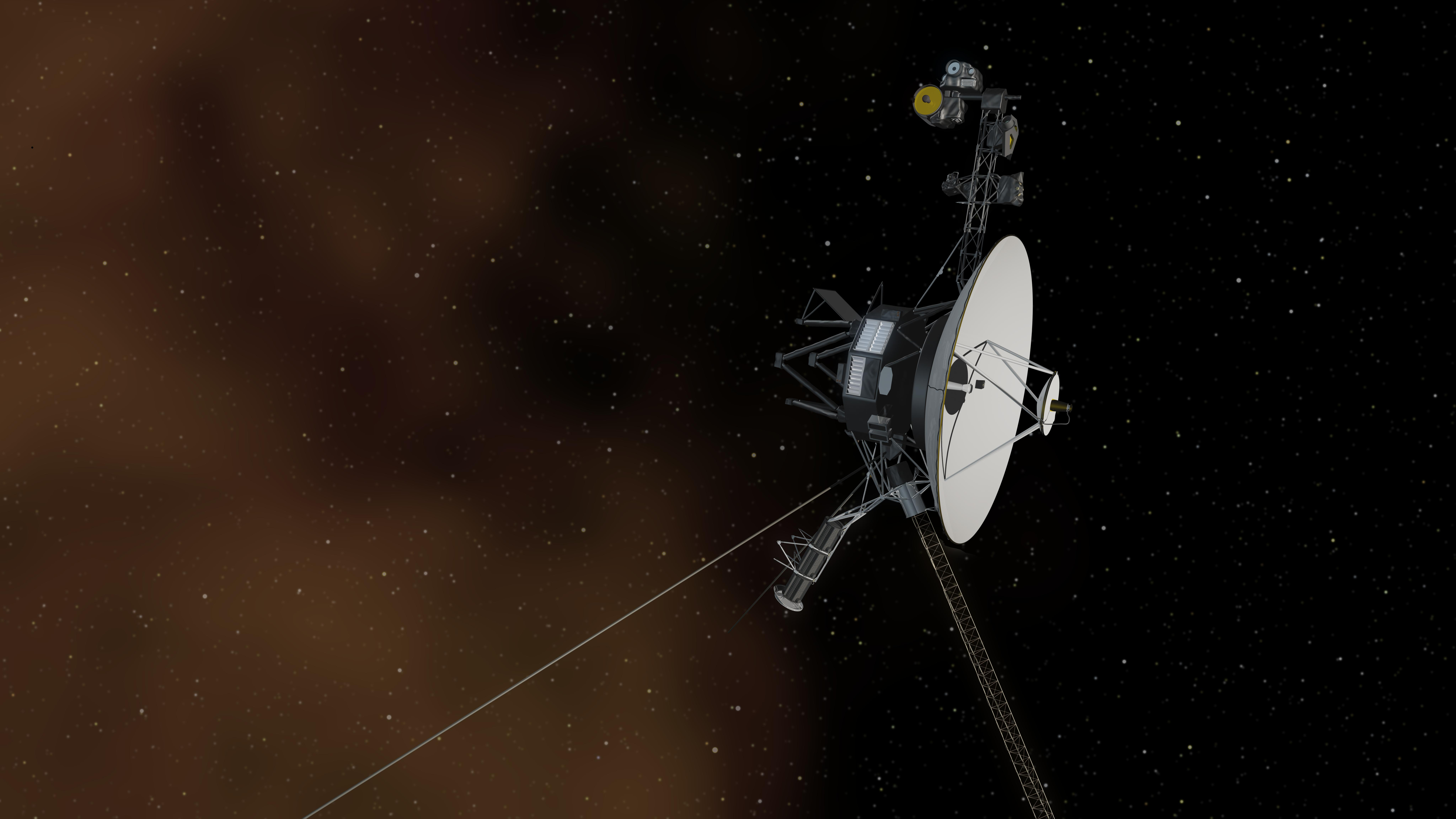 Artist's concept of Voyager 1 in interstellar space. Credit: NASA/JPL-Caltech