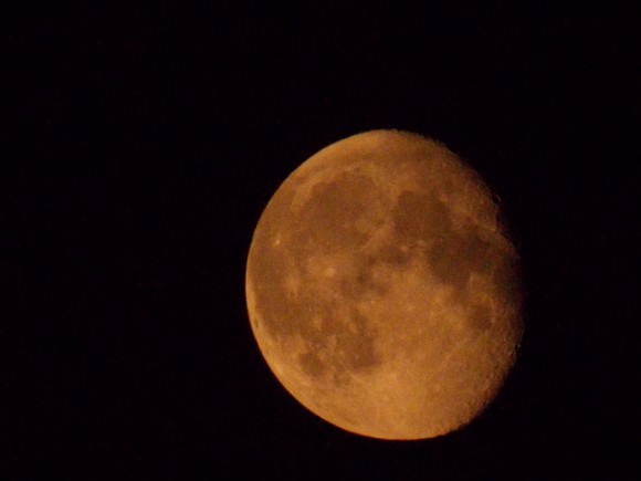 The moon shines red in this photo taken from Newcastle upon Tyne, England on Sept. 11, 2014. Credit: David Blanchflower