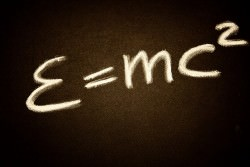 Einstein's famous equation. Image via Pixabay.