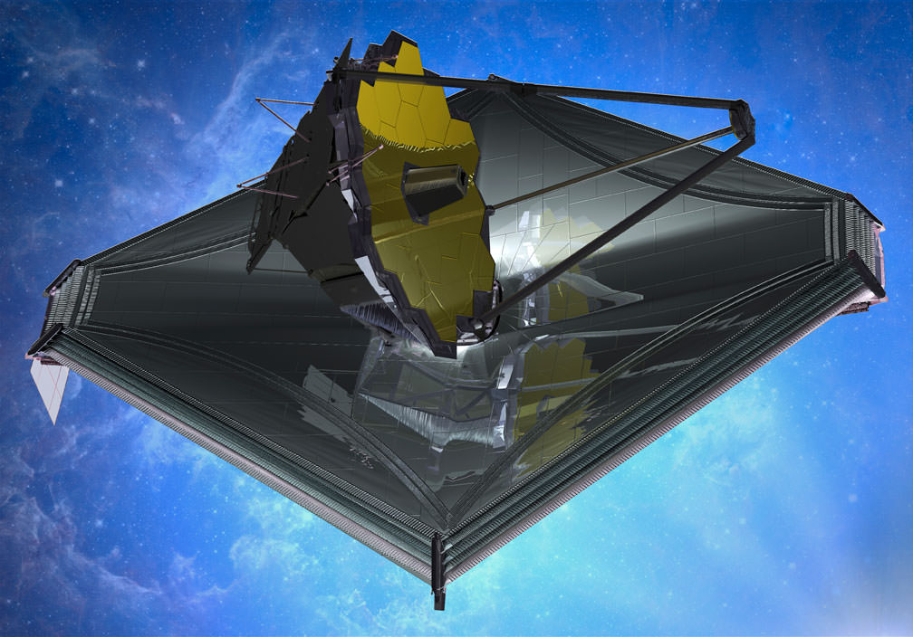 NASA's James Webb Space Telescope, scheduled for launch in 2018, will be capable of measuring the spectrum of the atmospheres of Earthlike exoplanets orbiting small stars. Credit: NASA, Northrop Grumman