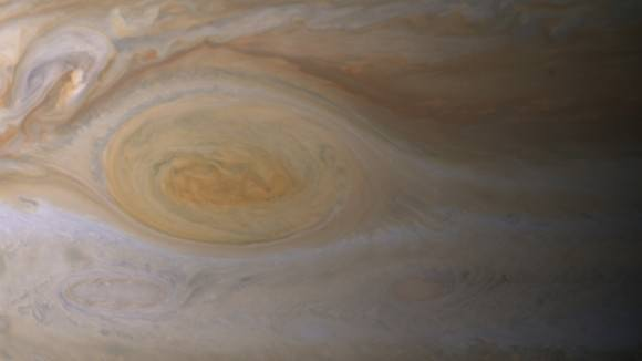 A close-up of Jupiter's great red spot. Credit: NASA/JPL-Caltech/ Space Science Institute