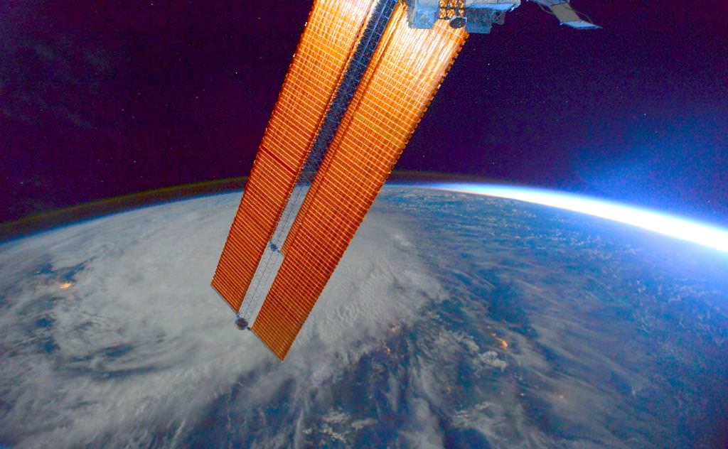 Typhoon Hagupit seen from the International Space Station on Dec. 6, 2014. Credit: Terry Virts/Twitter