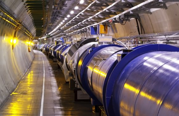 A section of the LHC. Image Credit: CERN