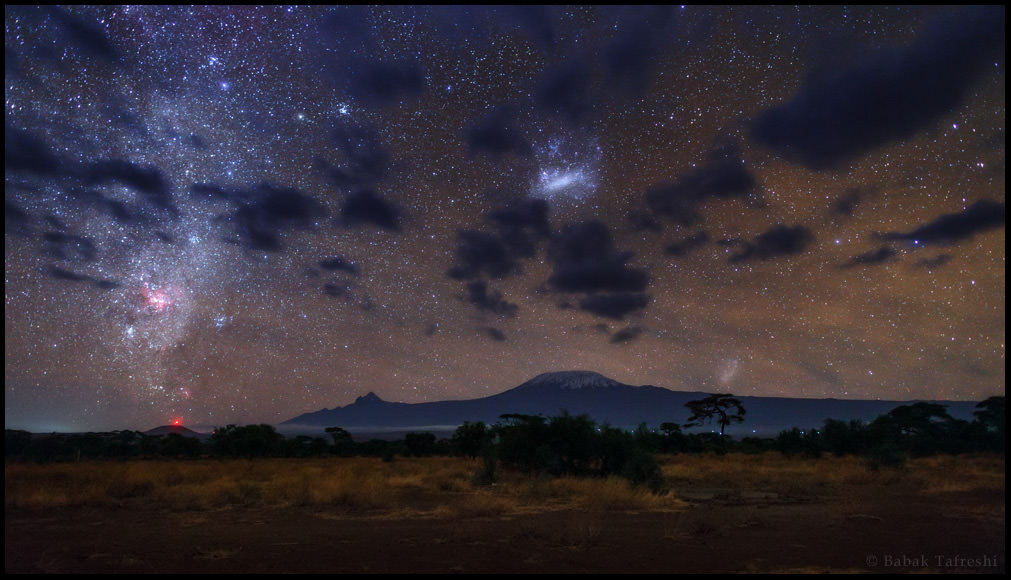 A view of Mt. Kilimanjaro at night. Credit and copyright: Babak Tafreshi.