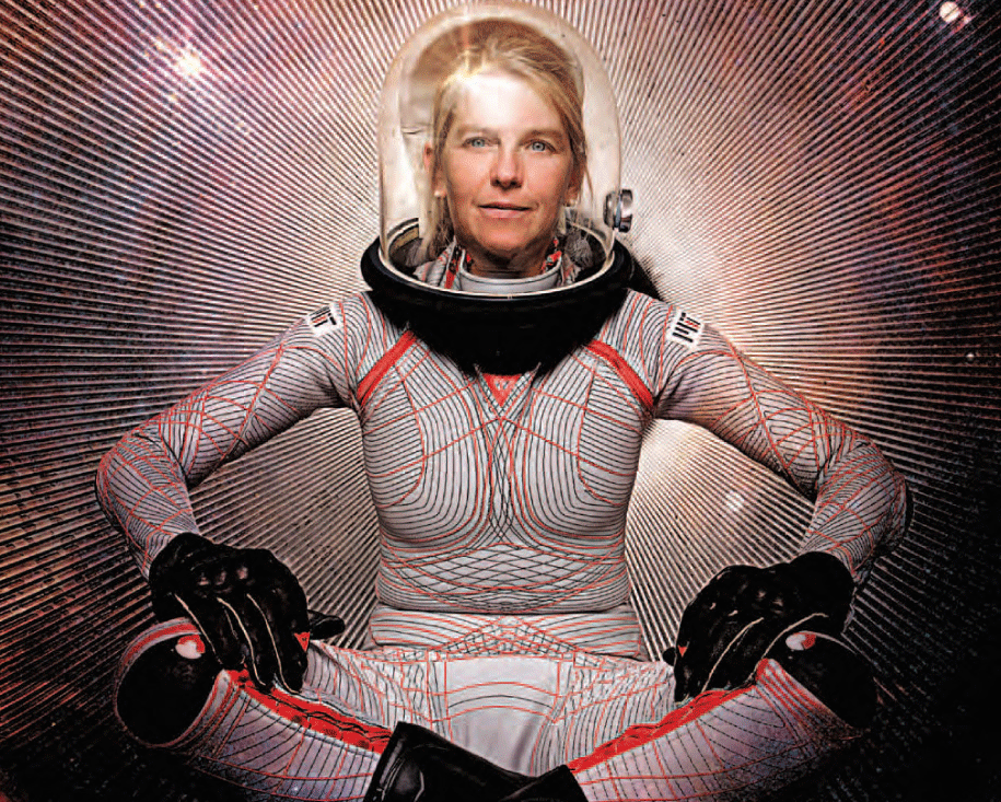 The MIT BioSuit, a skintight spacesuit that offers improved mobility and reduced mass compared to modern gas-pressurized spacesuits. Credit: MIT.