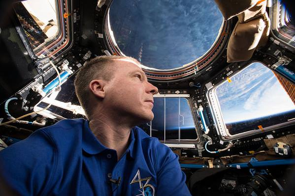 NASA Astronaut Terry Virts inside the Cupola, commanded just completed Expedition 43 during over 199 days aboard the ISS.  Credit: NASA