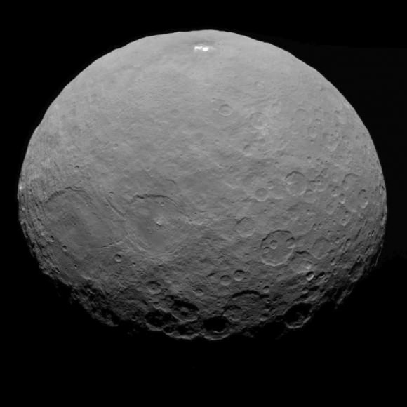 This image of Ceres was taken by NASA's Dawn spacecraft on May 7, 2015, from a distance of 8,400 miles (13,600 kilometers).   Credit: NASA/JPL-Caltech/UCLA/MPS/DLR/IDA