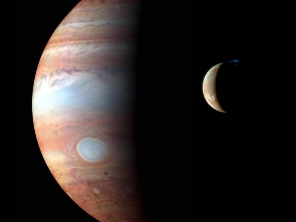 Jupiter and Io. Image Credit: NASA/JPL