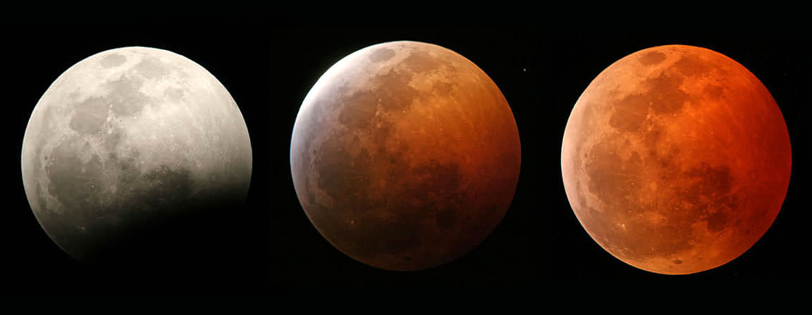 Next Sunday night, September 27-28, a full supermoon will step into Earth's shadow for a beautiful total eclipse. The event occurs during convenient evening viewing across the Americas. Credit: Jim Schaff