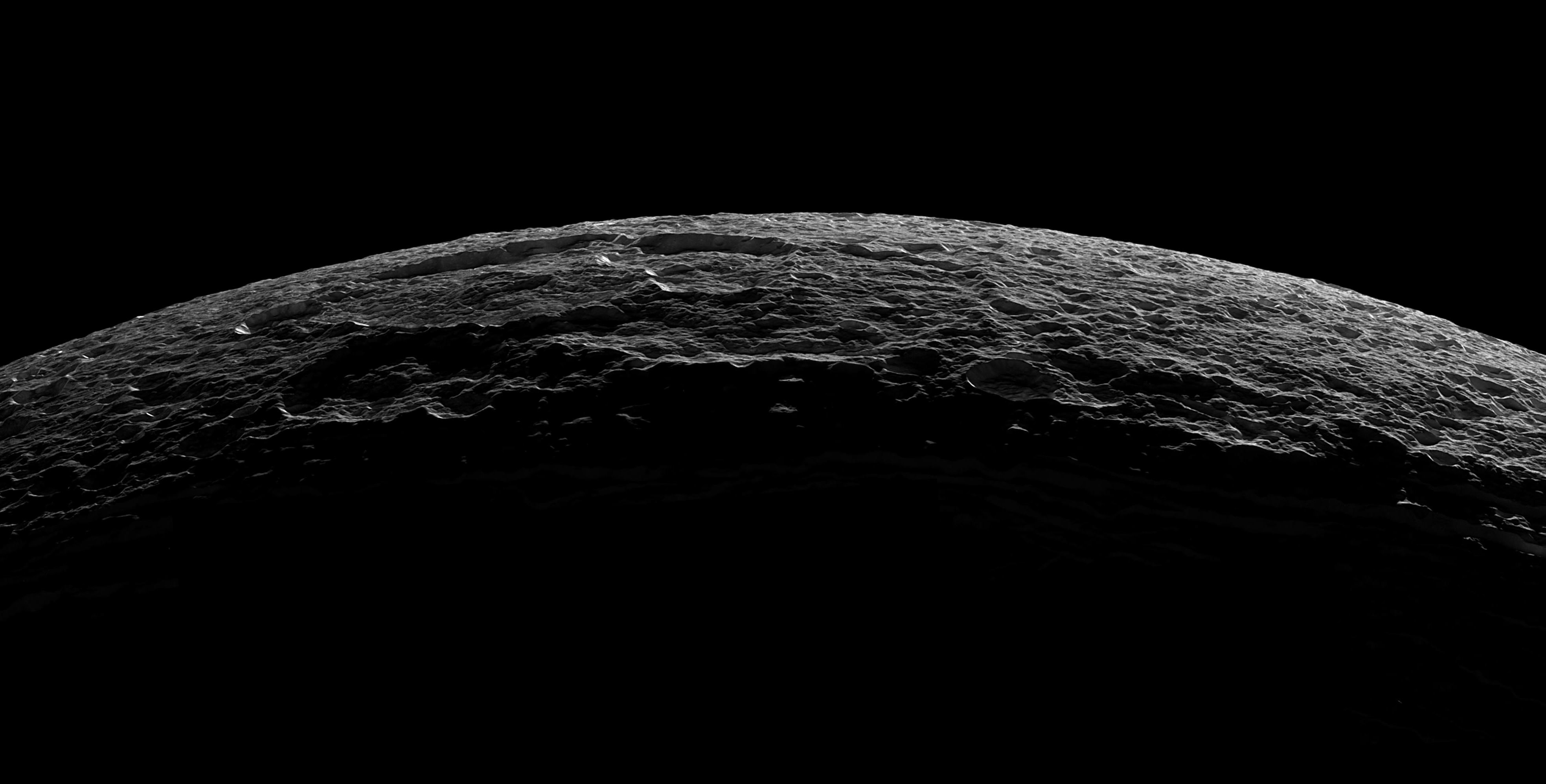 Cassini Mission Archives Universe Today To Saturn Diagram Of The Spacecraft Crescent Dione From October 11 2005 Crater Near Limb At