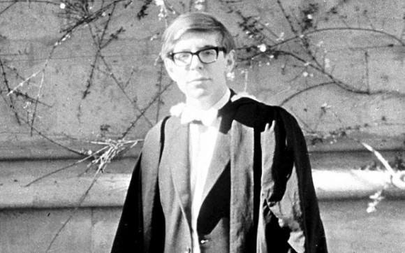 Hawking on graduation day in 1962. Credit: telegraph.co.uk