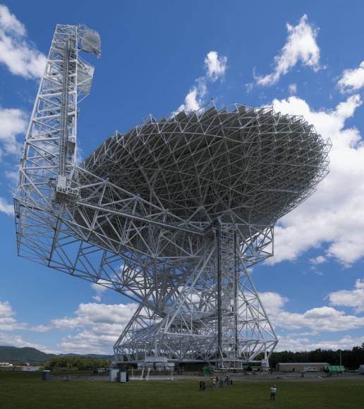 The Green bank Radio Telescope. Public Domain