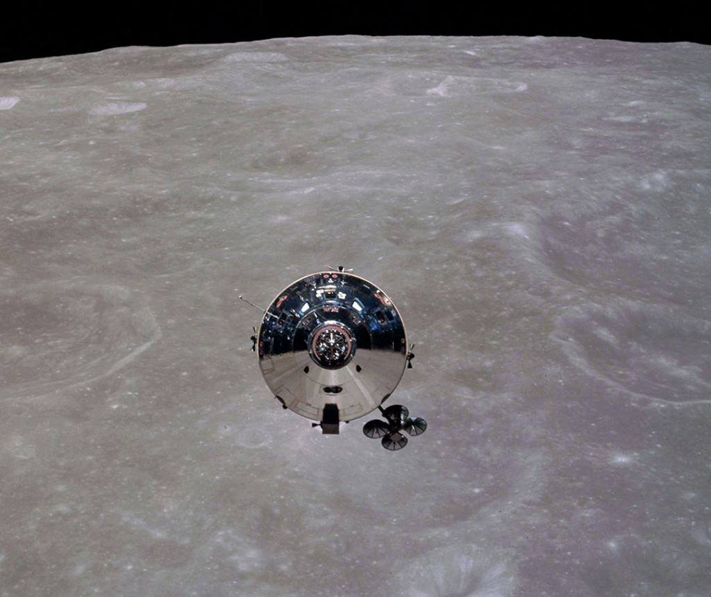 The Apollo 10 command/service module nicknamed