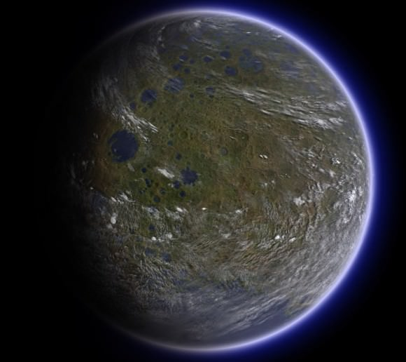 Artist's concept of a terraformed Moon. Credit: Ittiz