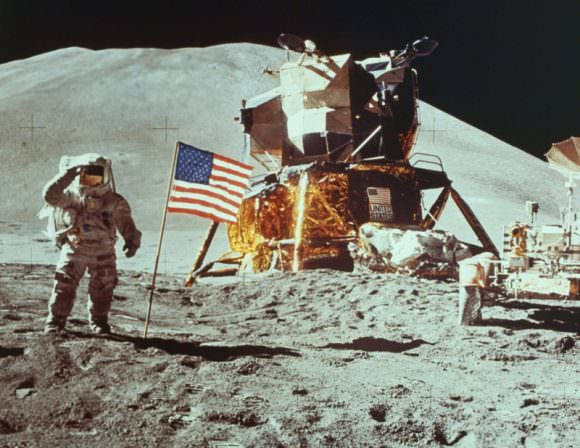 The image of the American flag planted on the Moon, being saluted by an American astronaut, must have caused great consternation in the Kremlin. Will SpaceX's mission to Mars cause the same consternation? Will Russia and other nations use the mission to remind the US of their Outer Space Treaty obligations? Image: NASA