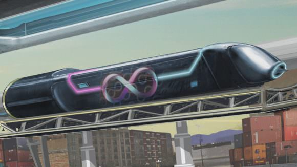 """After a successful demonstration on their test track, Hyperloop One is one step closer to making Musk's """"fifth mode of transportation"""" a reality. Credit: cbc.ca"""