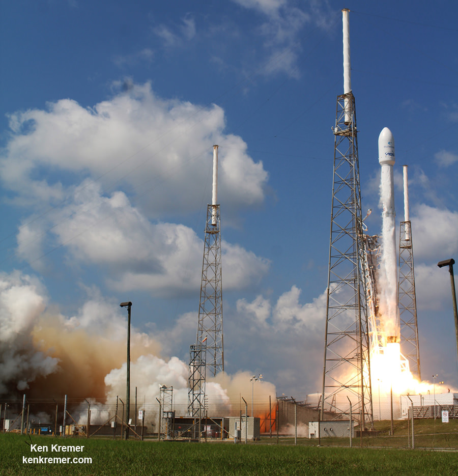 Successful SpaceX Falcon 9 launch of ABS/Eutelsat-2 launch on June 15, 2016, at 10:29 a.m. EDT from Space Launch Complex 40 on Cape Canaveral Air Force Station, Fl.   Credit: Ken Kremer/kenkremer.com