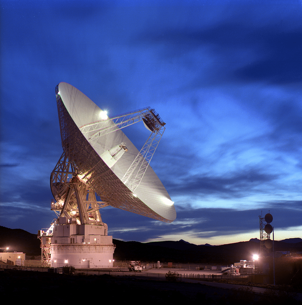 NASA's Deep Space Network is responsible for communicating with Juno as it explores Jupiter. Pictured is the Goldstone facility in California, one of three facilities that make up the Network. Image: NASA/JPL