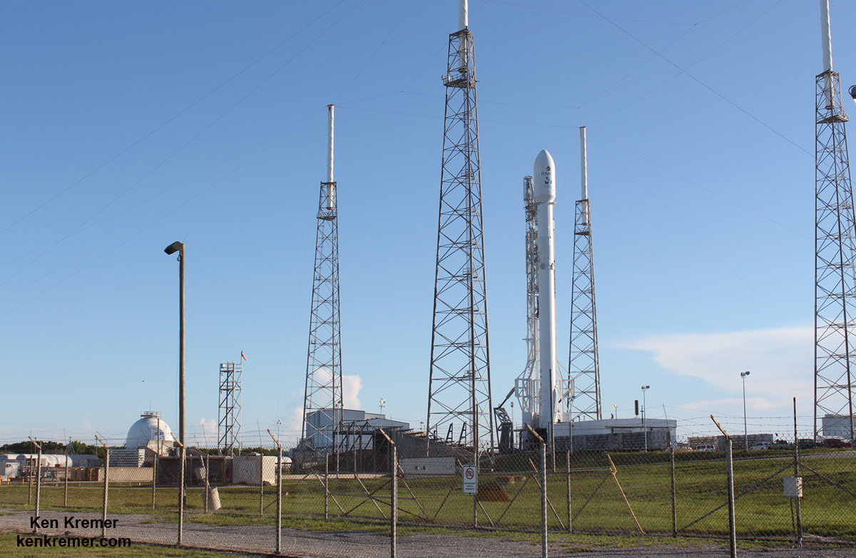 SpaceX Falcon 9 set to deliver JCSAT-16 Japanese communications satellite to orbit on Aug. 14, 2016 from Space Launch Complex 40 at Cape Canaveral Air Force Station, Fl. Credit: Ken Kremer/kenkremer.com