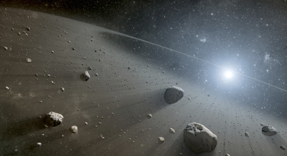 Artist's impression of circumstellar disk of debris around a distant star. These disk are common around younger stars, and could be the source of interstellar comets like 2I/Borisov. Credit: NASA/JPL