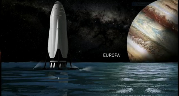 SpaceX's newly revealed Interplanetary Transit System will make travel to Mars, and other destinations in our Solar System, possible. Image: SpaceX