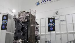 The NASA/NOAA GOES-R (Geostationary Operational Environmental Satellite - R Series) being processed at Astrotech Space Operations, in Titusville, FL, in advance of launch on a ULA Atlas V on Nov. 19, 2016.  GOES-R will be America's most advanced weather satellite. Credit: Ken Kremer/kenkremer.com