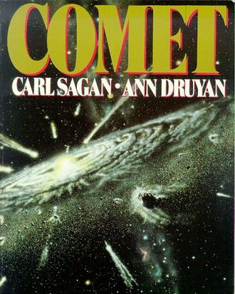 """Comet"" was published only months before Halley's Comet arrived in our inner Solar System in 1986. Image: Jon Lomberg, Random House New York."