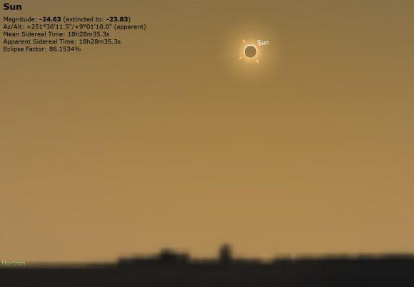 Mid eclipse