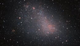 The Small Magellanic Cloud is one of the highlights of the southern sky. It can be seen with the naked eye. But it is obscured by clouds of interstellar gas and dust, which makes it hard for optical telescopes to get a good look at it. This image, taken with the ESO's VISTA. is the biggest-ever image of the SMC, and shows millions of stars. Credit: ESO/VISTA VMC
