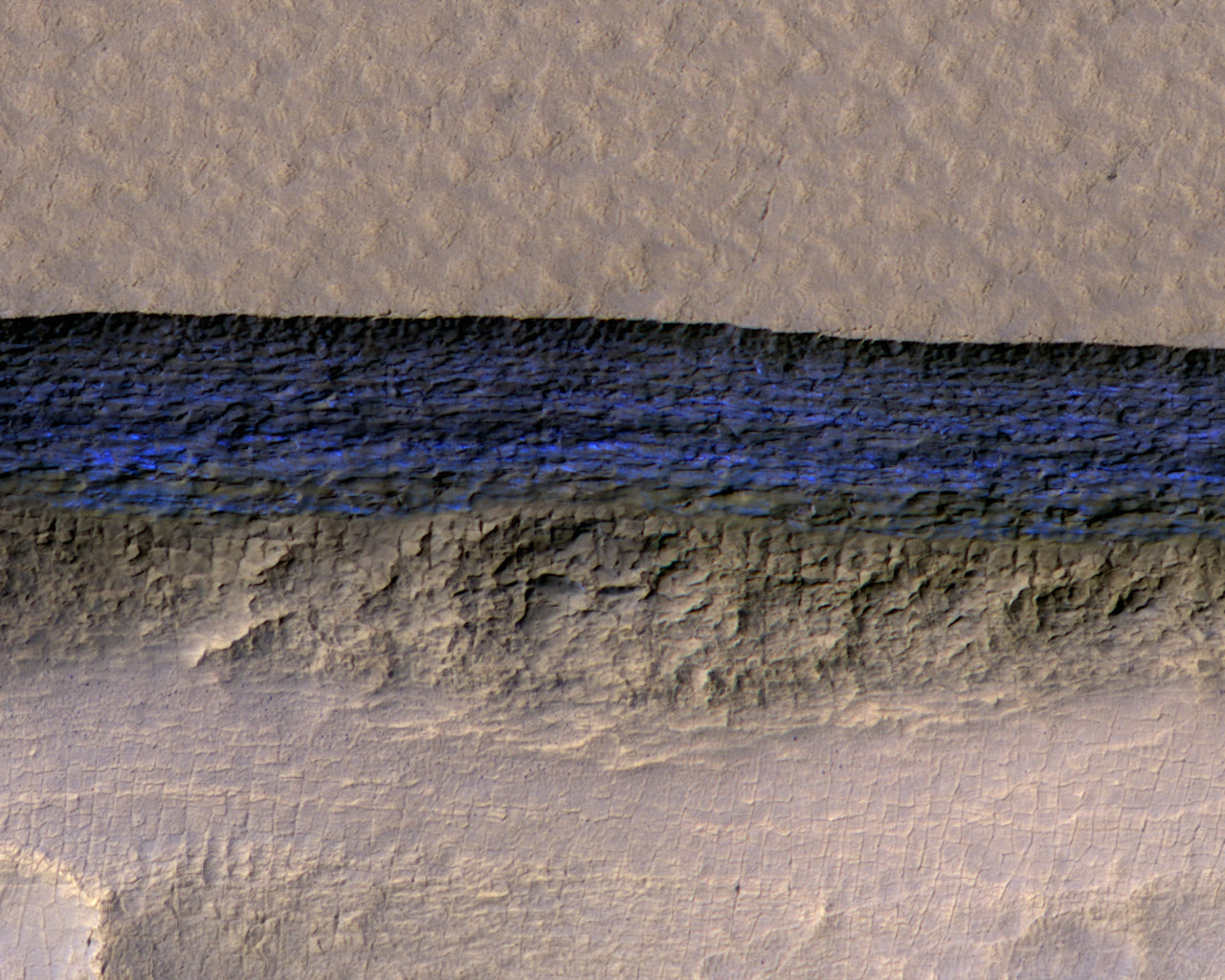 Huge Sheets of Ice Found Hidden Just Beneath the Surface of Mars - Universe Today