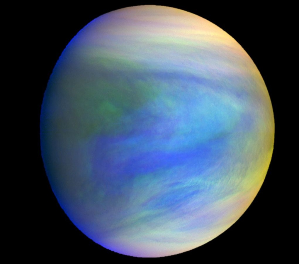 A composite image of the planet Venus as seen by the Japanese probe Akatsuki. Orbiters get a lot more work done than landers, which have to contend with Venus' deadly surface conditions. Credit: JAXA/Institute of Space and Astronautical Science
