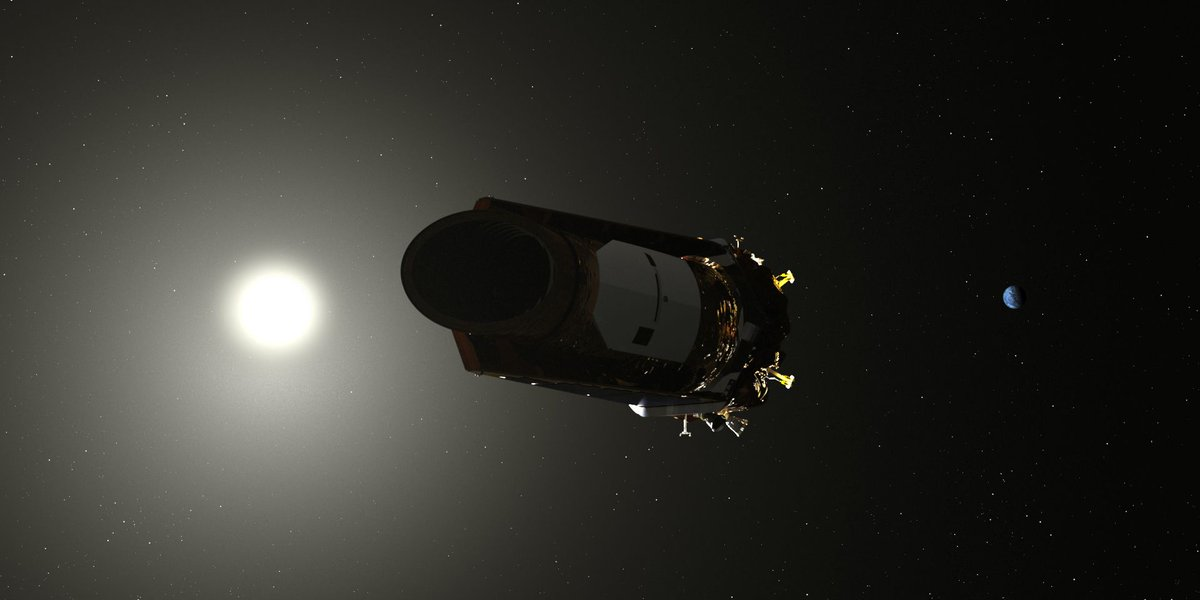 An artist's illustration of NASA's Kepler spacecraft. The Kepler mission is almost over, and the last of its fuel is being reserved to make sure its data makes it home. Image: NASA/Kepler