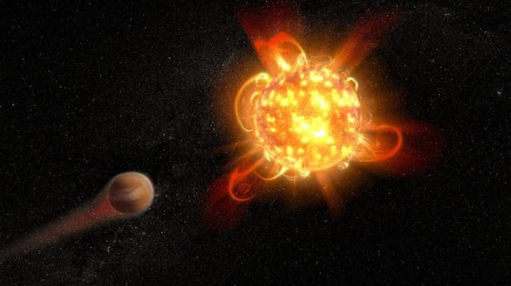 The violent outbursts from red dwarf stars, particularly young ones, may make planets in their so-called habitable zone uninhabitable. Image Credit: Credit: NASA, ESA, and D. Player (STScI)