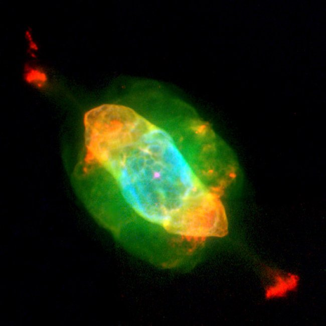 The Saturn nebula as imaged by the MUSE instrument on the ESO's Very Large Telescope. Image Credit: ESO/VLT