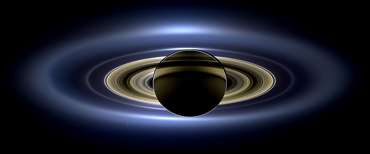 Saturn's rings in all their glory. Image from the Cassini orbiter as Saturn eclipsed the Sun. Image Credit: By NASA / JPL-Caltech / Space Science Institute