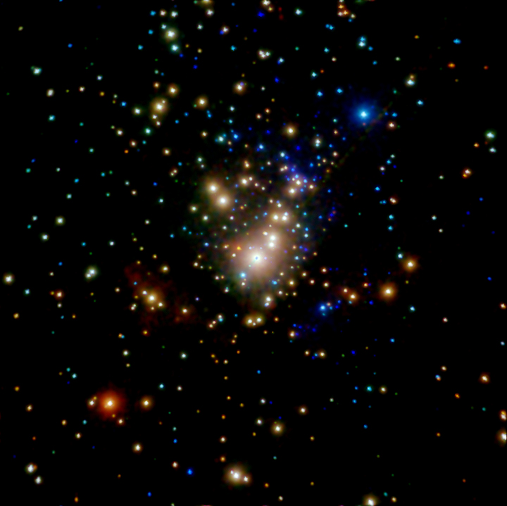 Star clusters like the Trapezium cluster in Orion are embedded in gas and dust in the galactic disk and are very difficult to see. There may be a cluster similar to this in the Norma spiral arm, the origin of the hypervelocity star LAMOST-HVS1. Image Credit: By NASA/CXC/Penn State/E.Feigelson & K.Getman et al. - http://chandra.harvard.edu/photo/2007/orion/, Public Domain, https://commons.wikimedia.org/w/index.php?curid=38576885