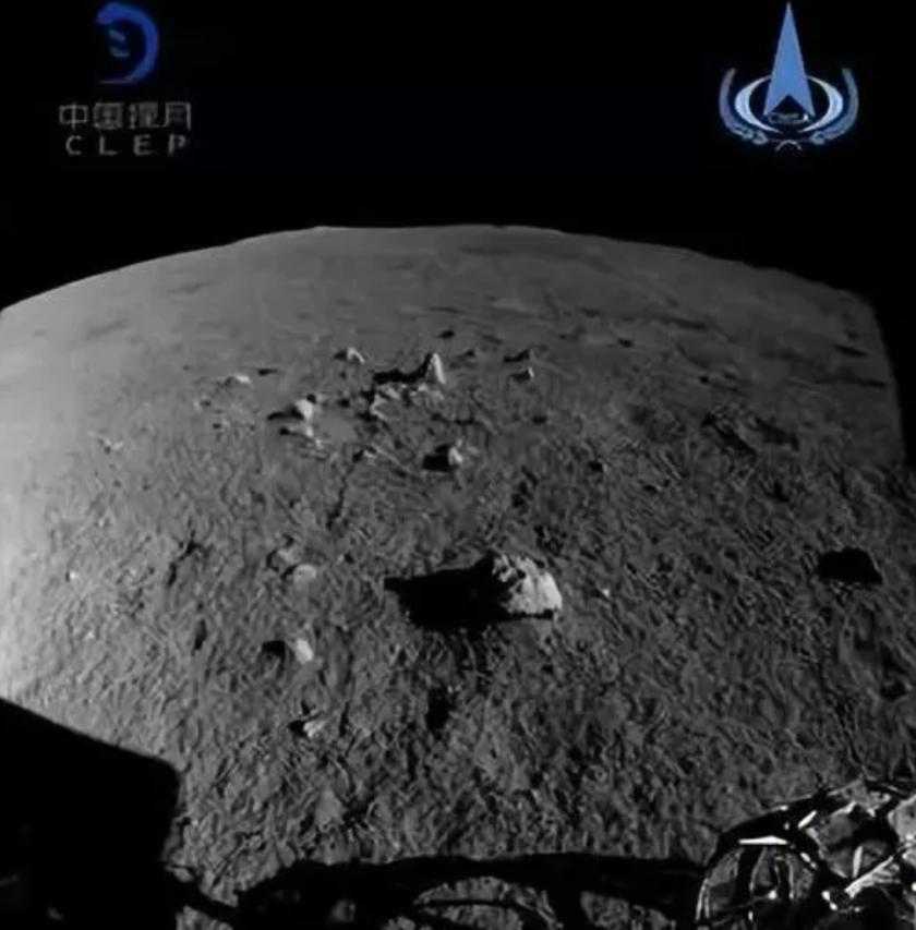 The Yutu-2 rover busied itself taking pictures of rocks and of the lunar surface. Image Credit: CLEP/CNSA