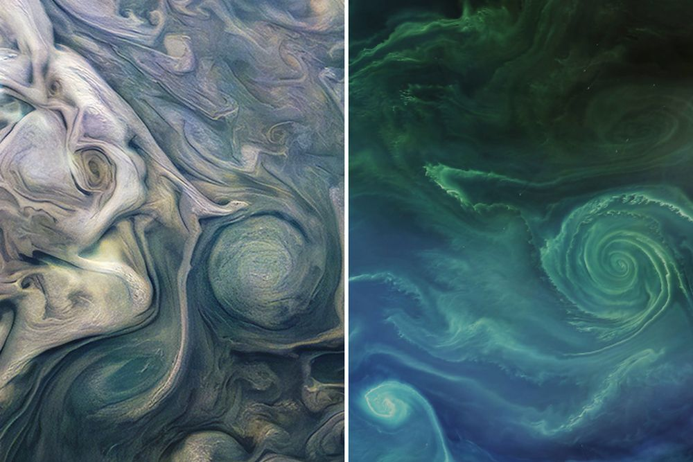Though Jupiter and Earth are wildly differing places, some things are the same on both worlds. Image Credit: NASA
