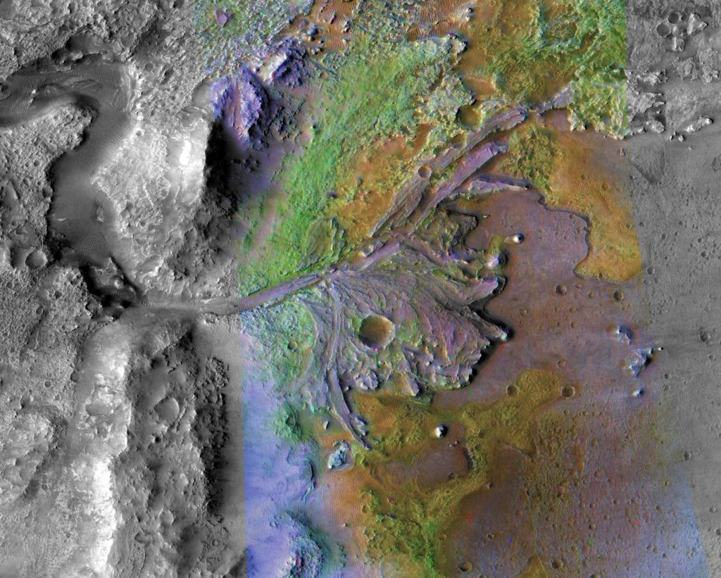 Jezero Crater on Mars is the landing site for NASA's Mars 2020 rover. Image Credit: NASA/JPL-Caltech/ASU