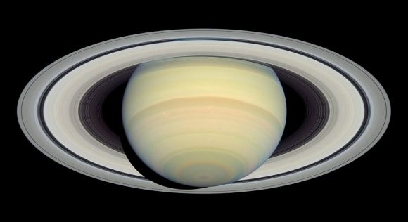 Hubble image of Saturn and its rings.