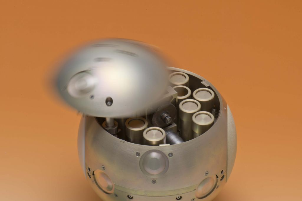 The Mars Sample Container with individual sample tubes. Image Credit: ESA-Anneke Le Floc'h