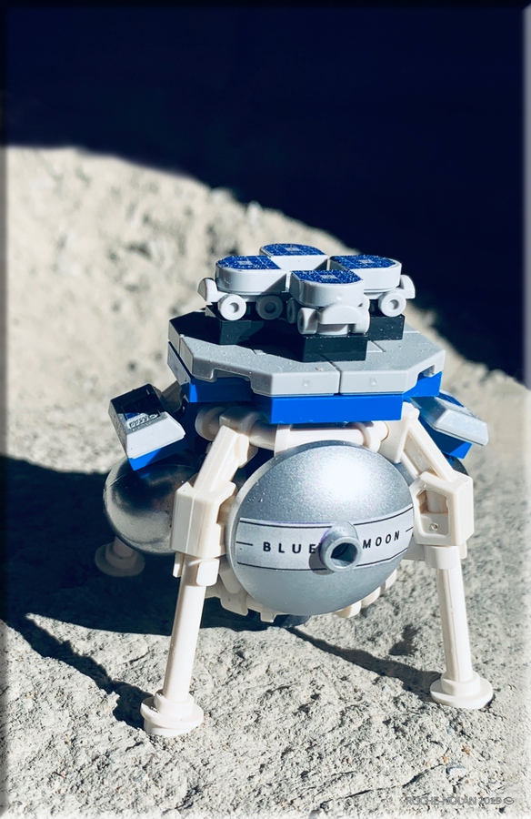 The LEGO Blue Moon Lander. If the designers reach 10,000 supporters, LEGO will review it and may put it into production. Image Credit: Roche/Nolan.