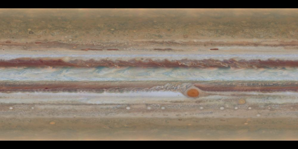 One of the archives Hubble images of Jupiter as part of the OPAL program. Image Credit: