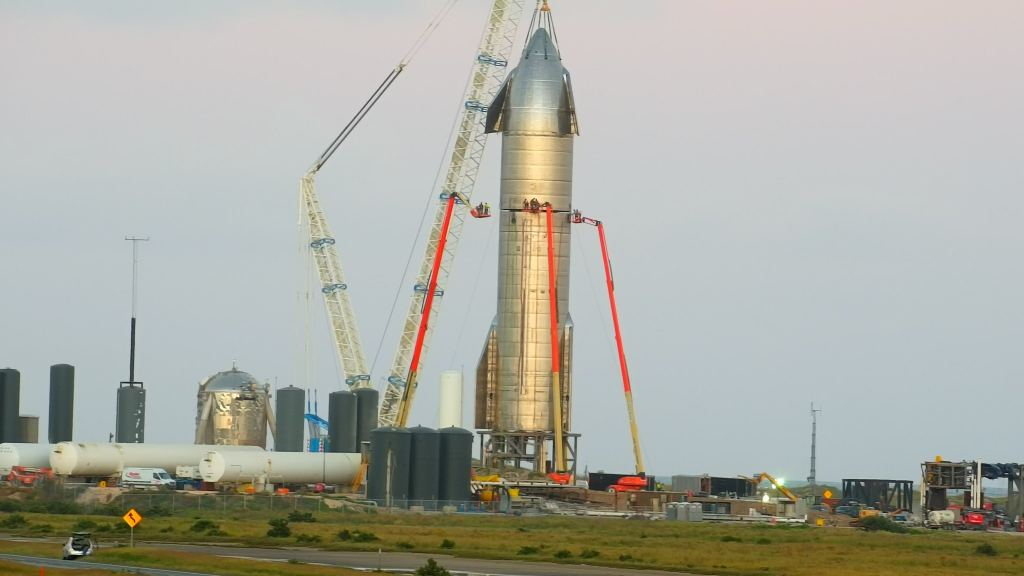 SpaceX Starship Passes Static Fire Test With Three Raptor Engines, Finally Gets Nose Cone! - Universe Today