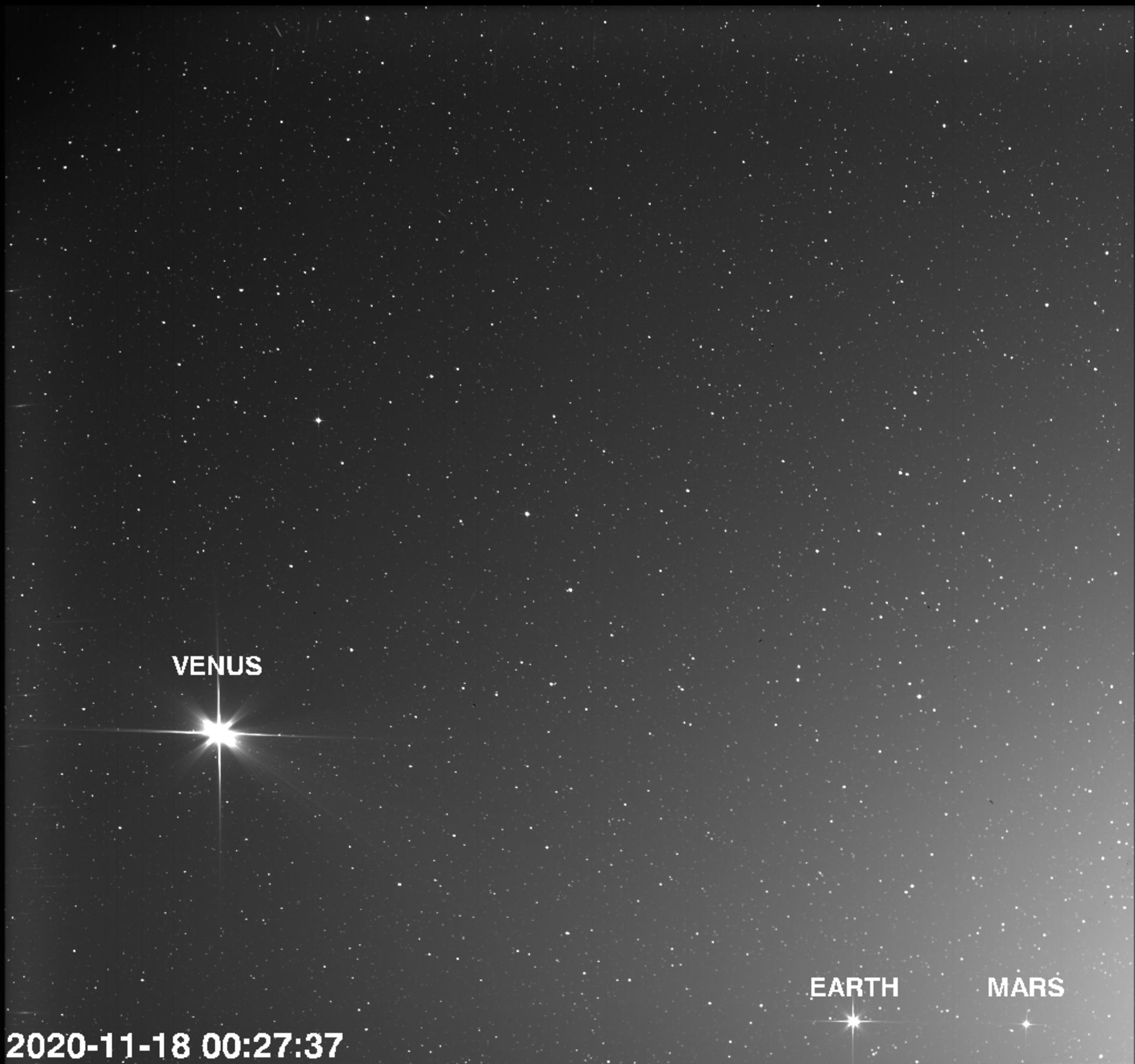 Solar Orbiter Caught Venus, Earth and Mars in One of its Photos - Universe Today